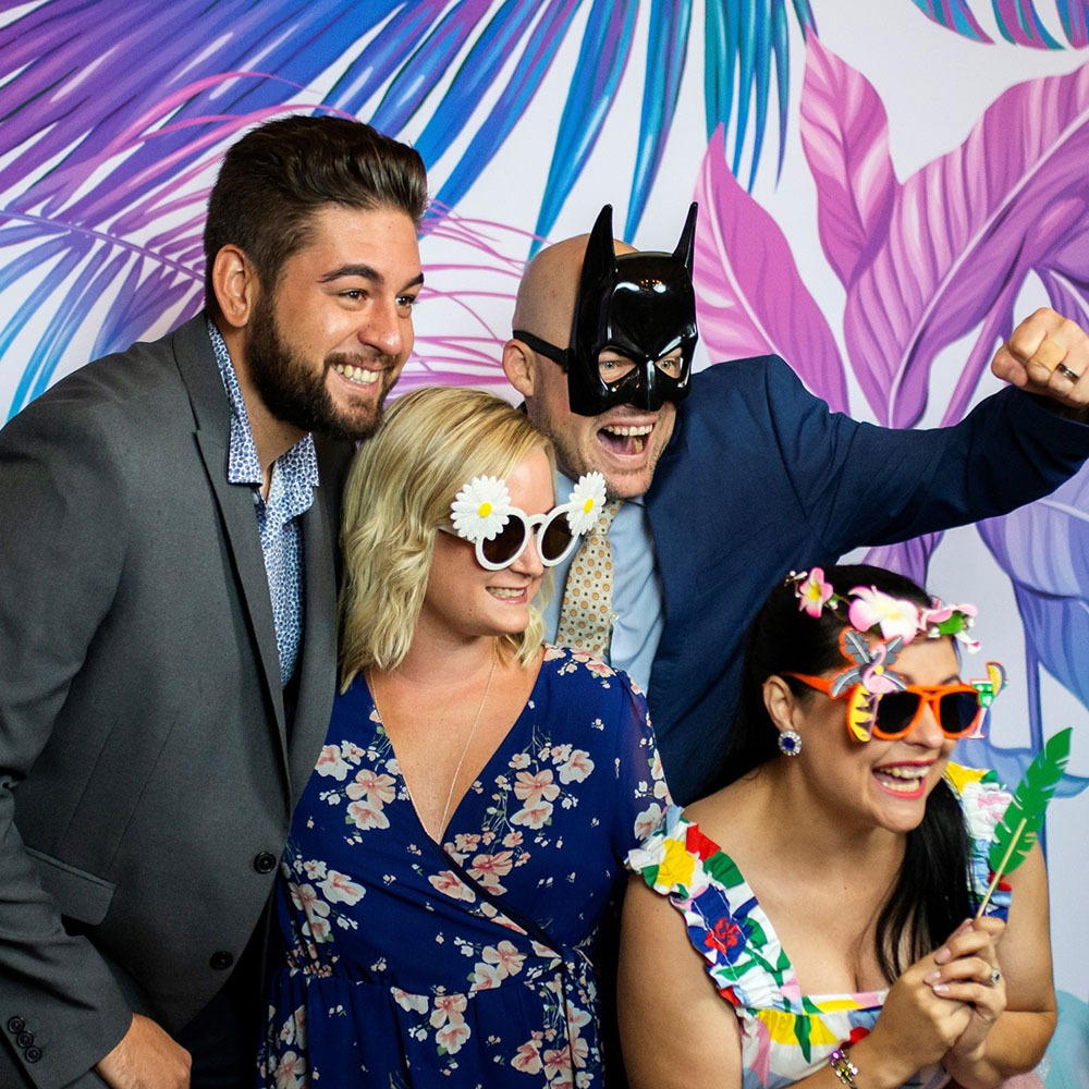 Modern Photo Booth at a Wedding.